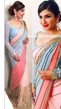 Funky 3 Colour Saree
